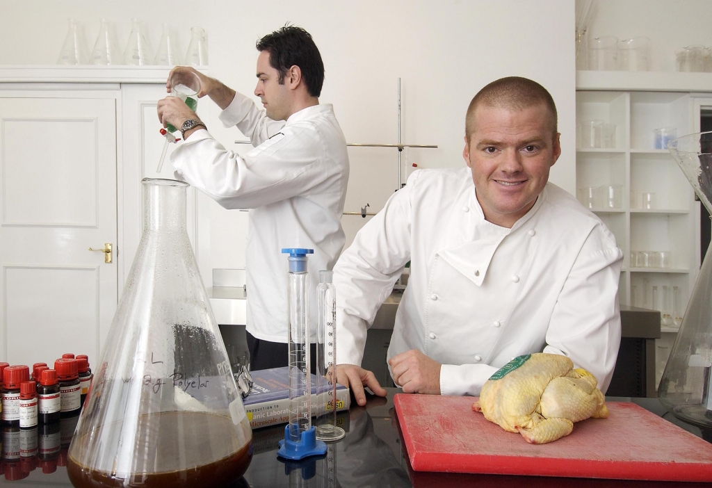 DTGFP pic by Geoff Pugh 2/11/2004 Heston Blumenthal the three star Michelin Chef of the 'Fat Duck' in Bray in his 'science lab' where he is using science to help his cooking